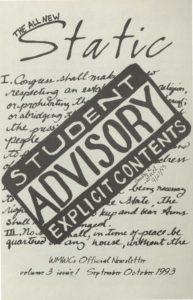 Static: Volume 3, Issue 1 (September 1993)
